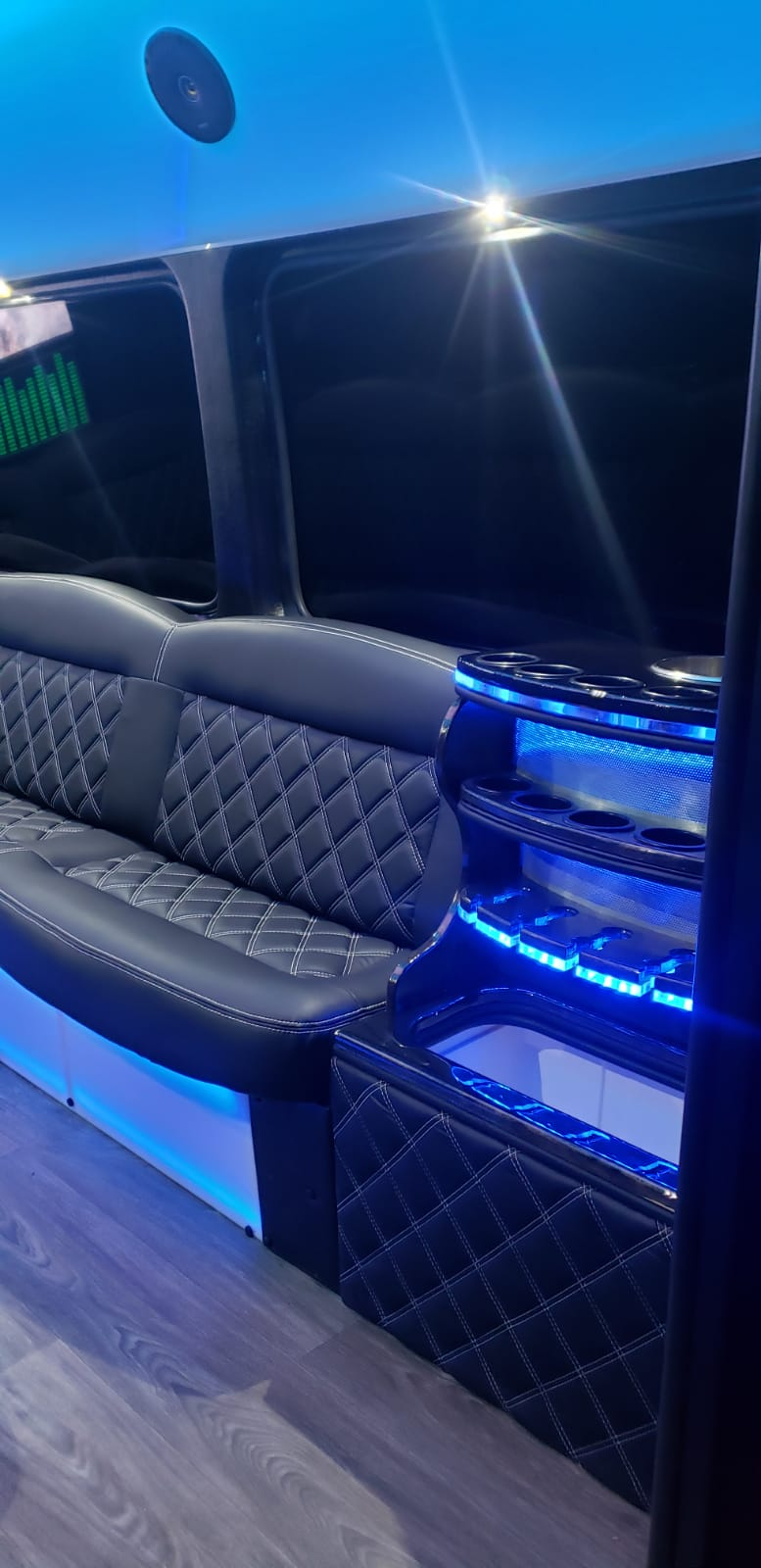 10-14 PASSENGERS PARTY BUS - Inside Couch