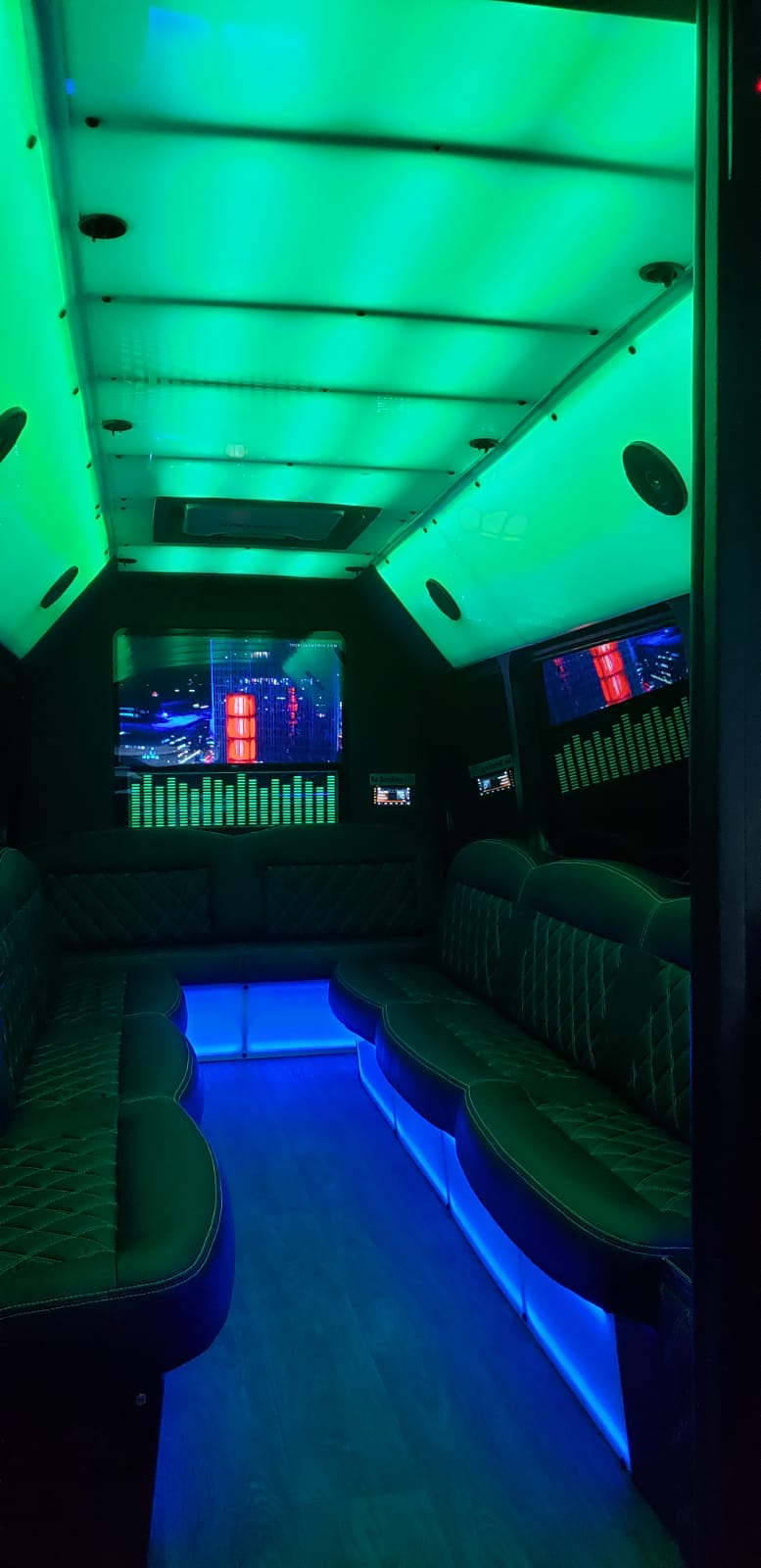 10-14 PASSENGERS PARTY BUS - Inside Limo